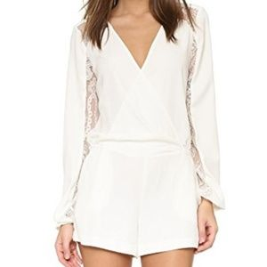 Parker White Long Sleeve Romper